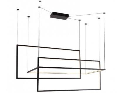 Maxlight Geometric - Geometrické led čierne závesné svietidlo s minimalistickým dizajnom
