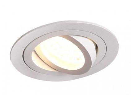 Pekná dizajnová minimalistická okrúhla bodovka v bielej farbe