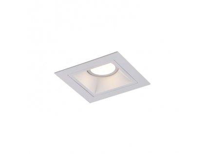 Maxlight Hit I - Pekná dizajnová minimalistická štvorcová bodovka v bielej farbe