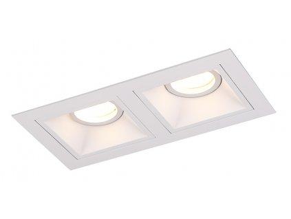 Pekná dizajnová minimalistická štvorcová bodovka v bielej farbe