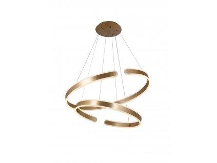 Dizajnové kruhové luxusné zlaté závesné led svietidlo Maxlight Sydney
