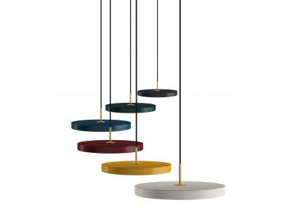 Vita Asteria Moderné visiace minimalistické dizajnové farebné led svietidlo
