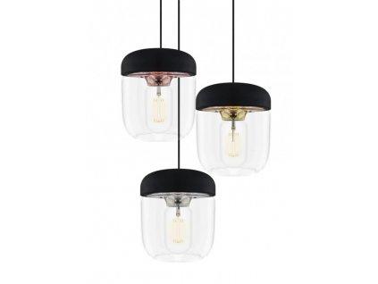 Kvalitné dizajnové dánske svietidlo sklo kov