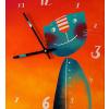 Keramické hodiny - Kocourek