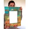 Zrcadlo s keramickým okrajem - Domky