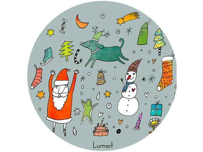 Magnetická placka - Vánoční motivy