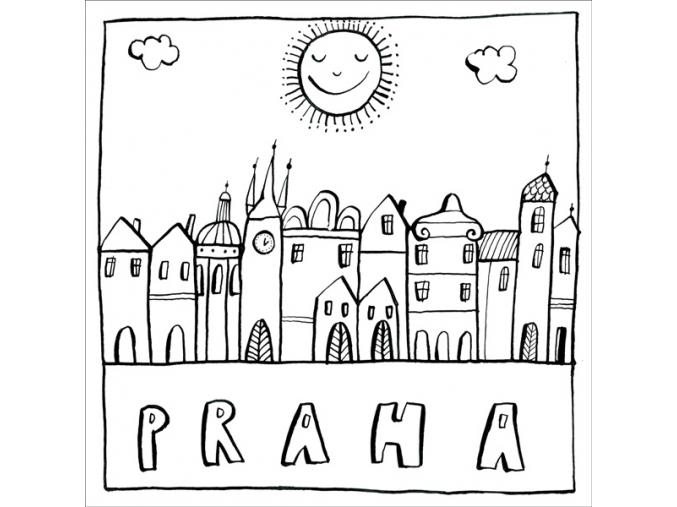 P TPR11A Praha stověžatá omalovánk
