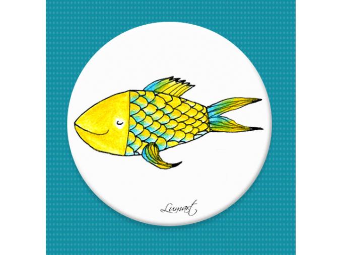 Magnetická placka - Zlatá rybka
