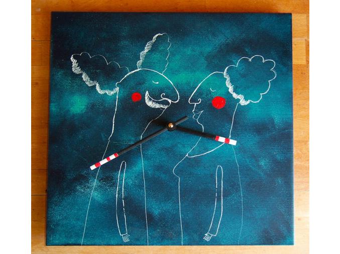 Keramické hodiny - Mráčkovi