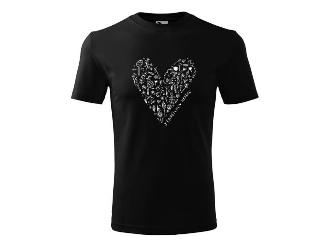Tričko JH cerne srdce