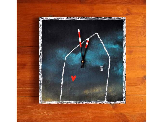 Keramické hodiny - Domeček
