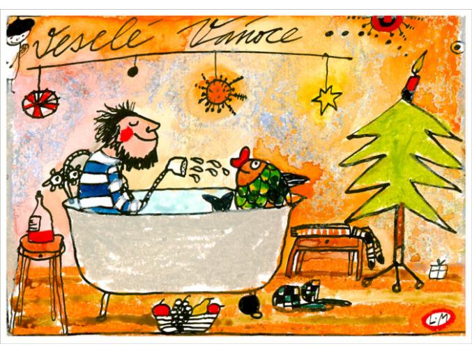 Pohled - Vánoce s kaprem