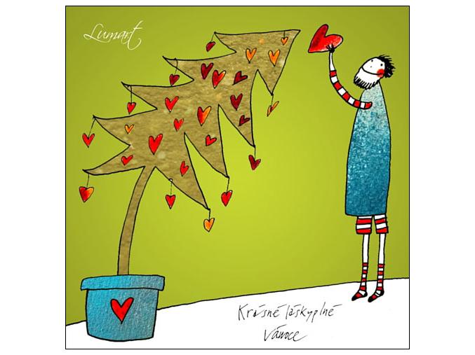Pohled - Zdobení stromku