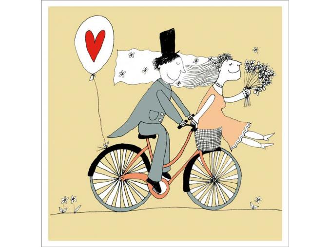 Přání - Svatební jízda na kole