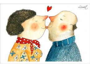 Pohled - Láska kvete v každém věku
