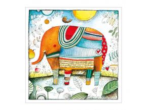 Pohled - Šťastný slon
