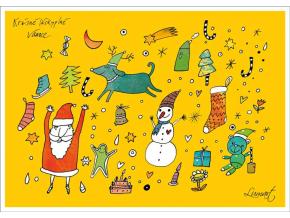 Pohled - Vánoční motivy
