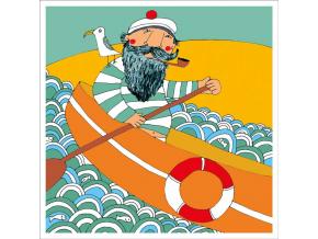 Pohled - Děda námořník