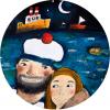 Magnetická placka - Námořník se svou láskou