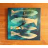 Keramické hodiny - Rybky
