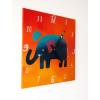 Keramické hodiny - Slon I