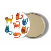 zrcatka kocky aquarel na we