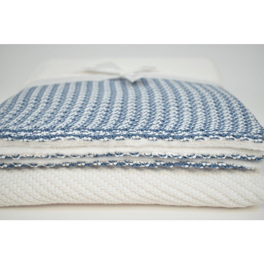 detská deka modrá biela zimná