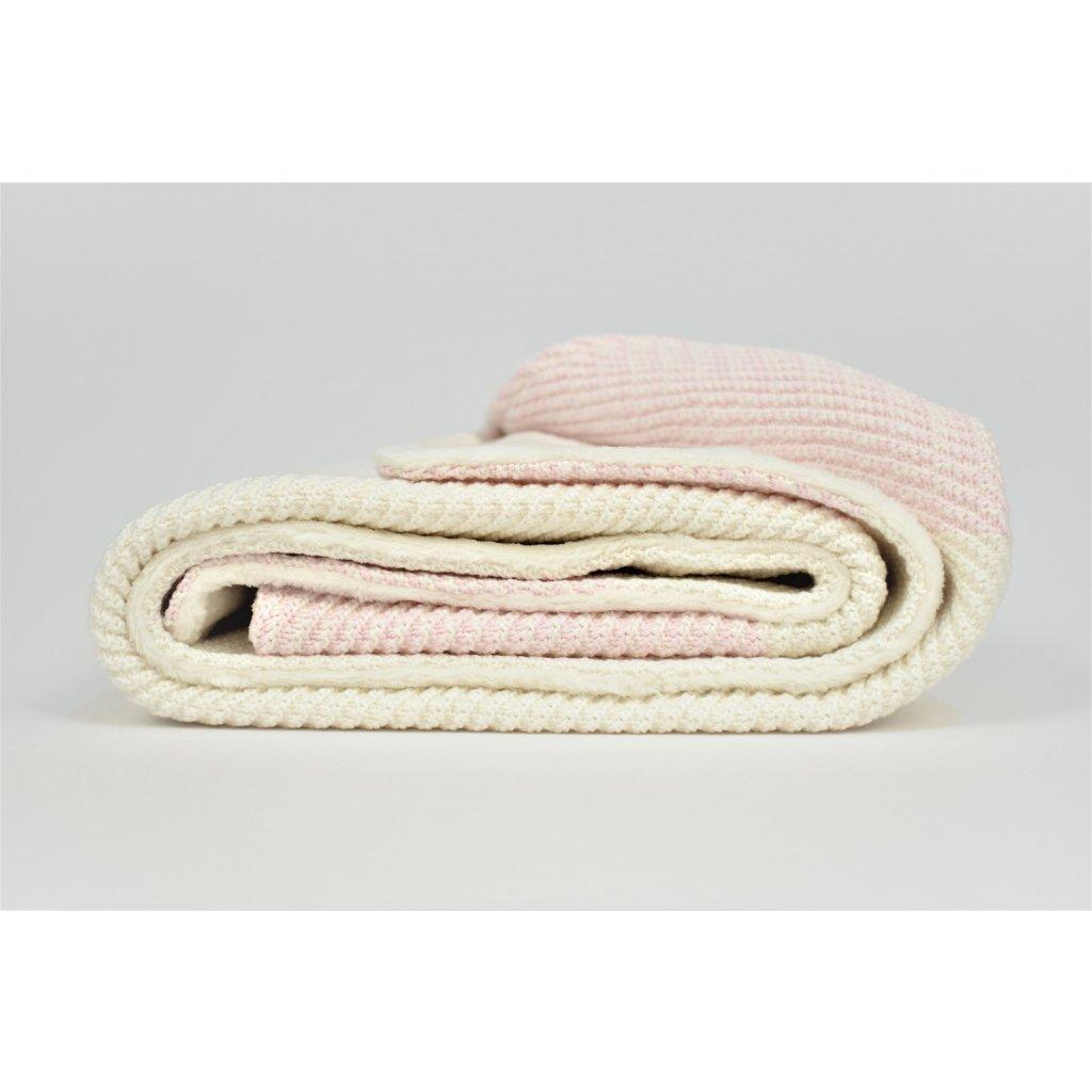 detská deka ružová teplá