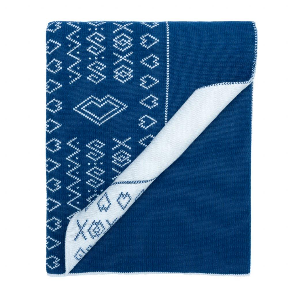 1 1 detska pletena deka modra