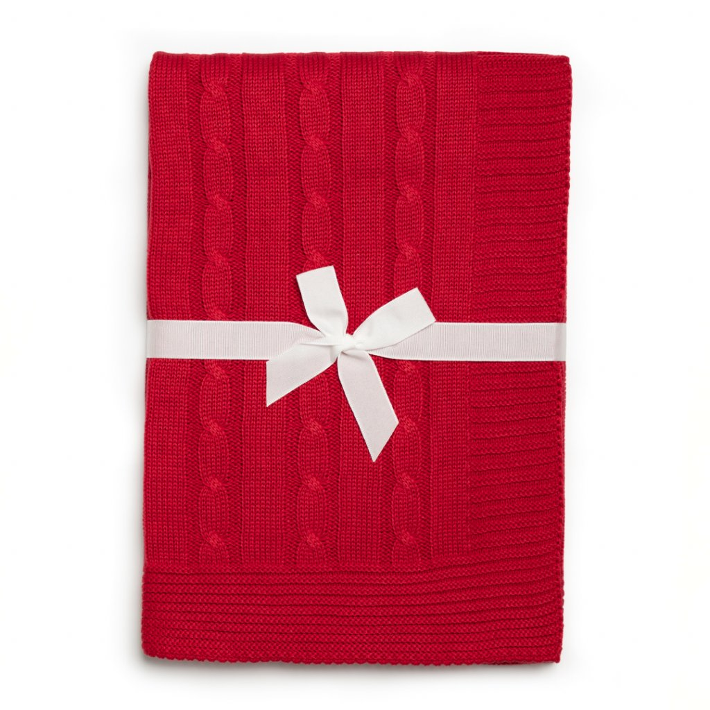 detská deka do kocika cervena