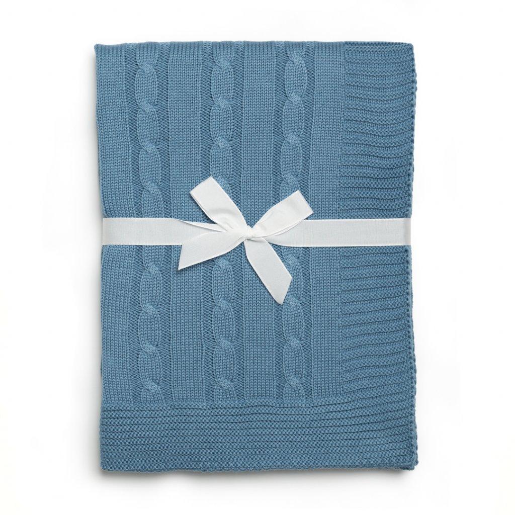 detská deka tmavo modra
