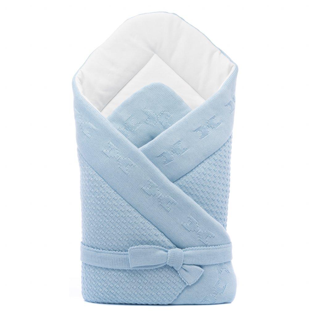 pletená zavinovačka modra