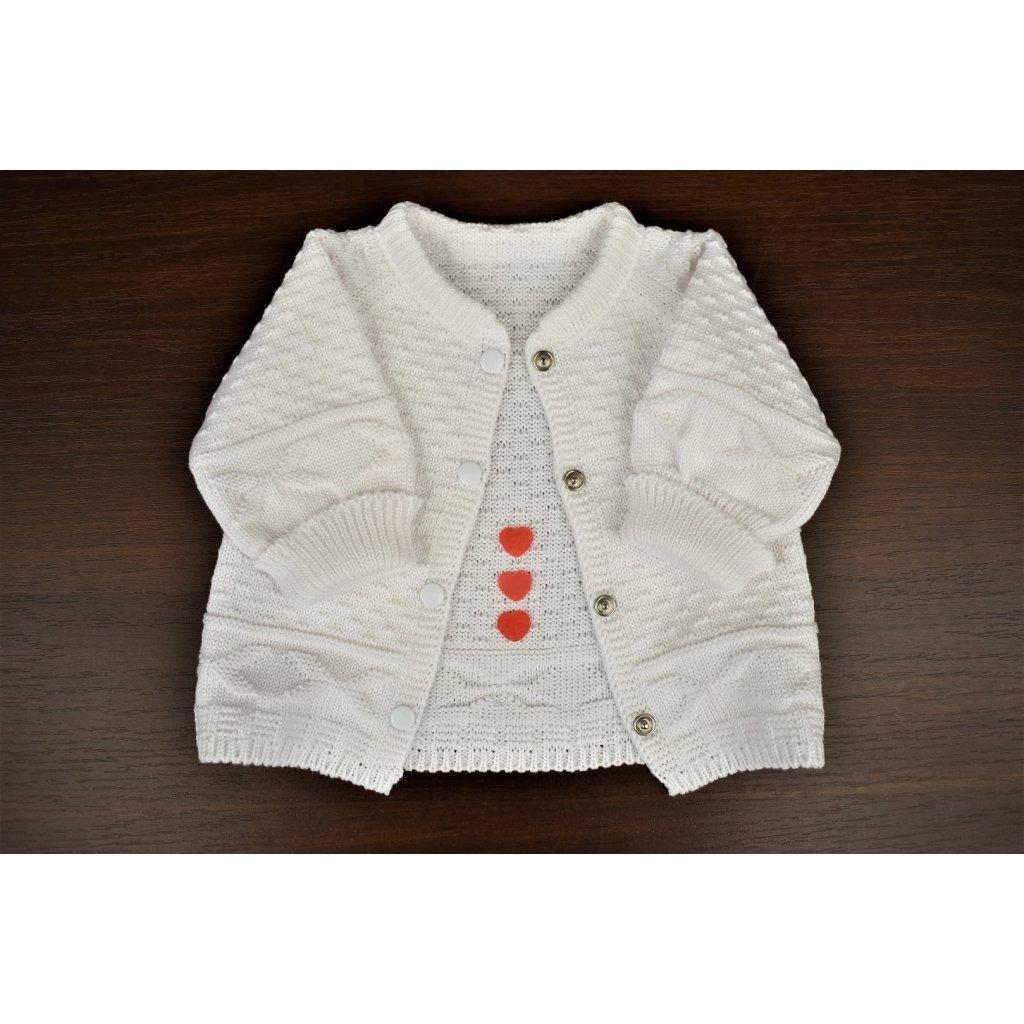 9b9ff7833 pletený svetrík pre bábätko biely