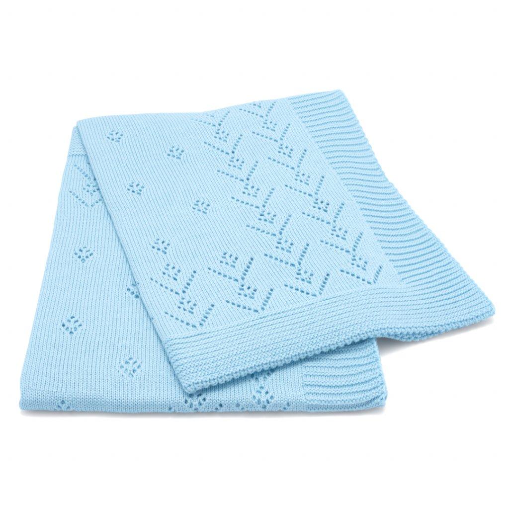 3 2 lumima letna detska deka modra