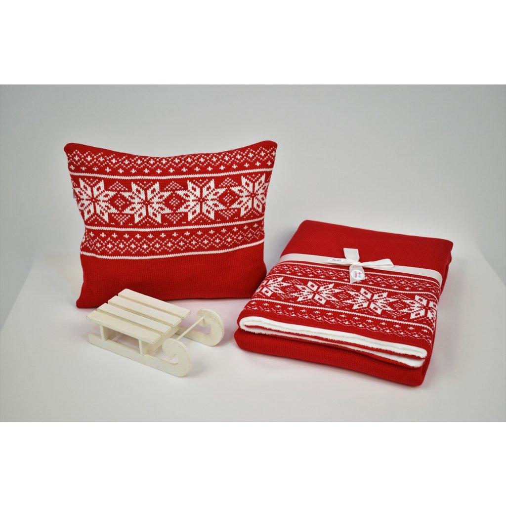 deka do kočíka červená vankúšik zimná