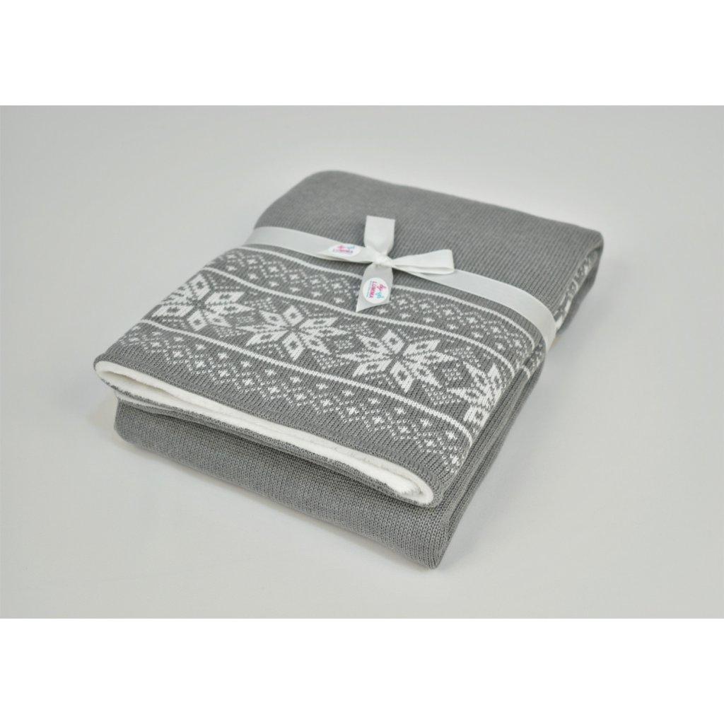 detská deka sivá zimná