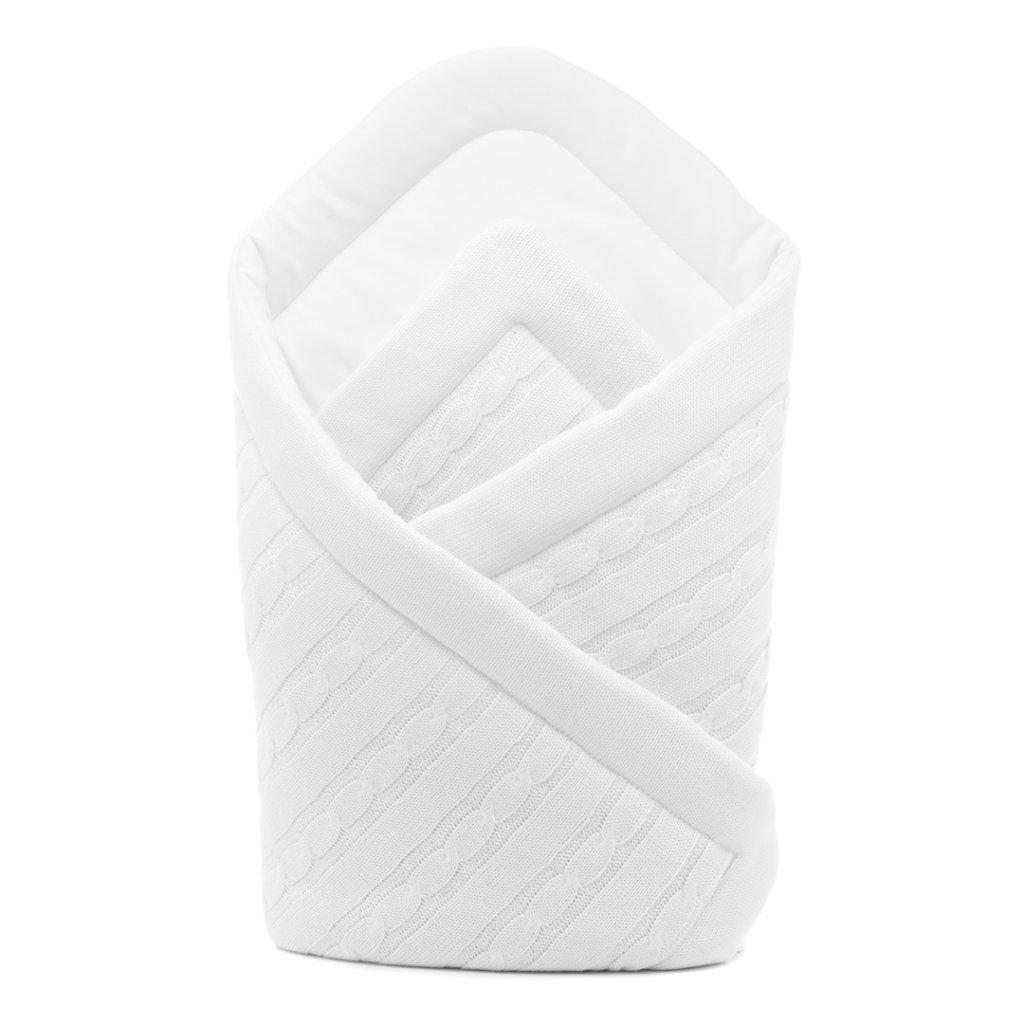 biela pletená zavinovačka