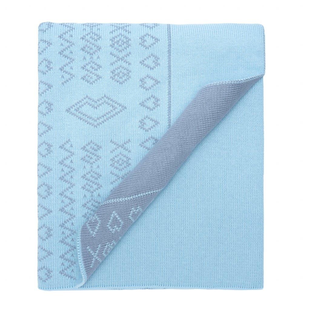 3 1 detska pletena deka modra