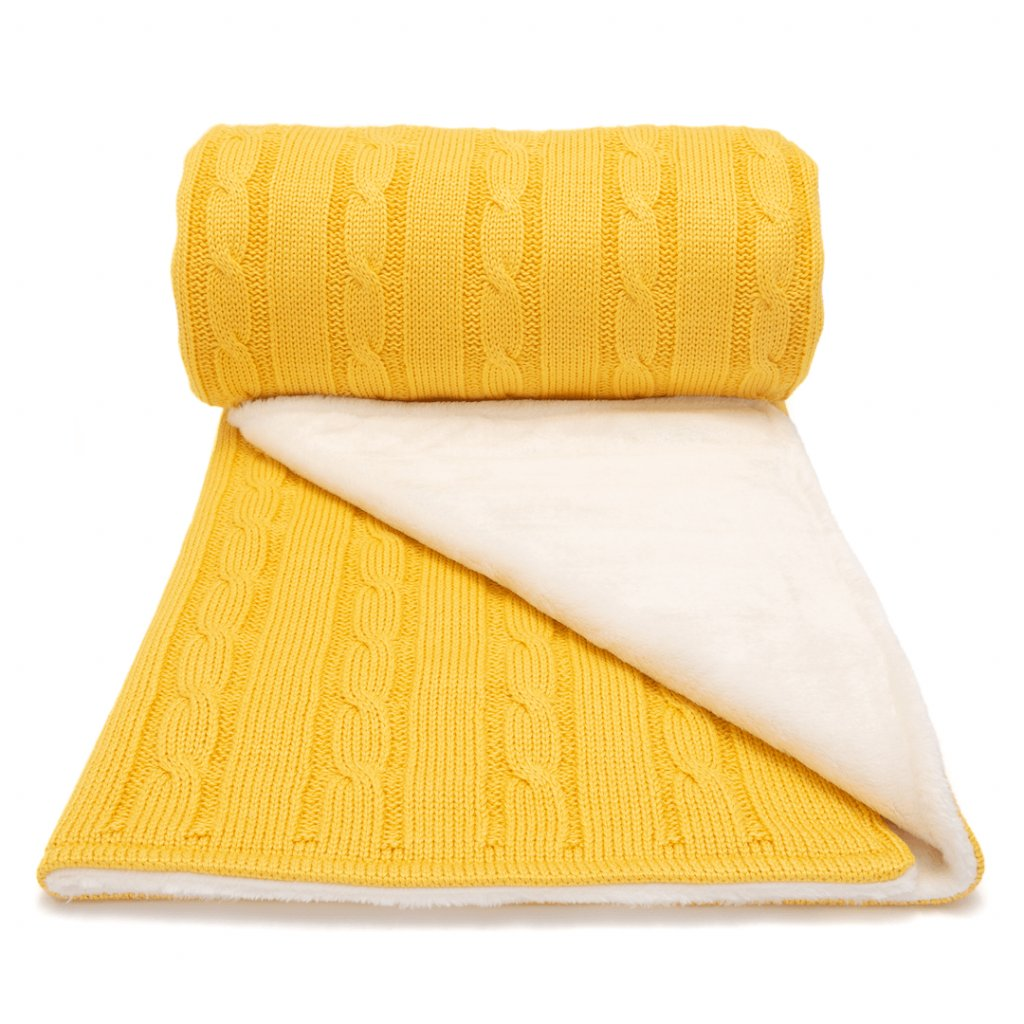 Zimná detksá deka žltá