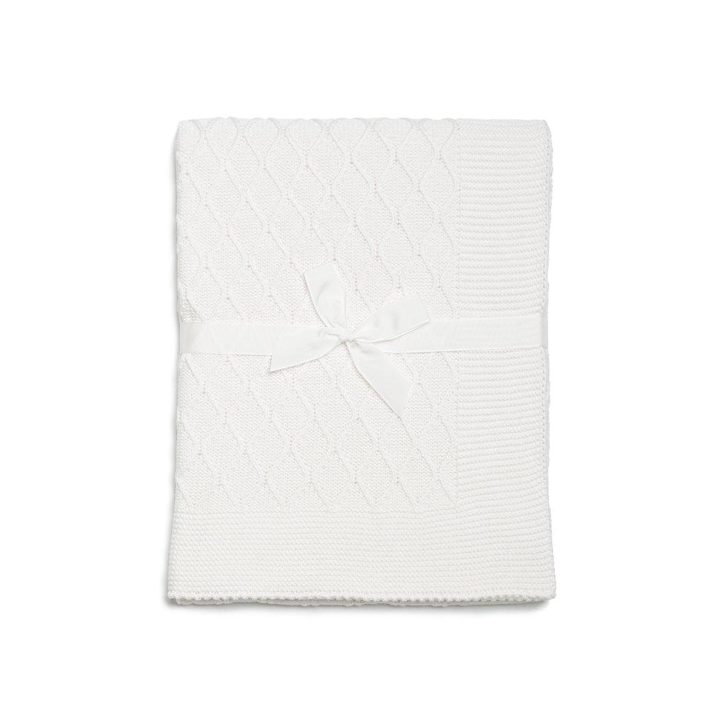 detská deka biela