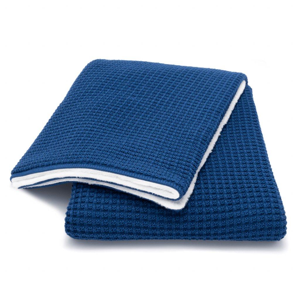 Zimná deka do kočíka tmavo modrá