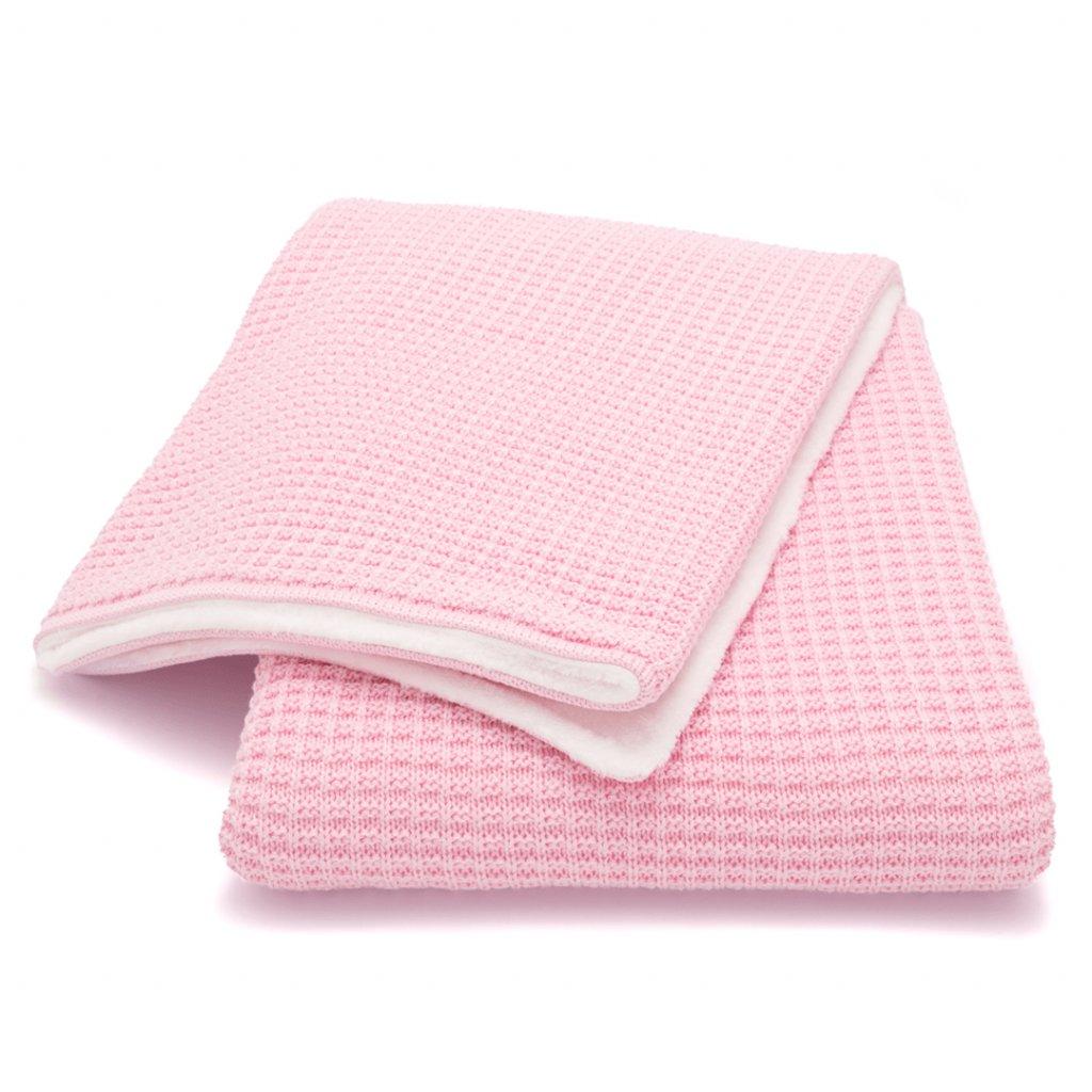 zimna detska deka ruzova
