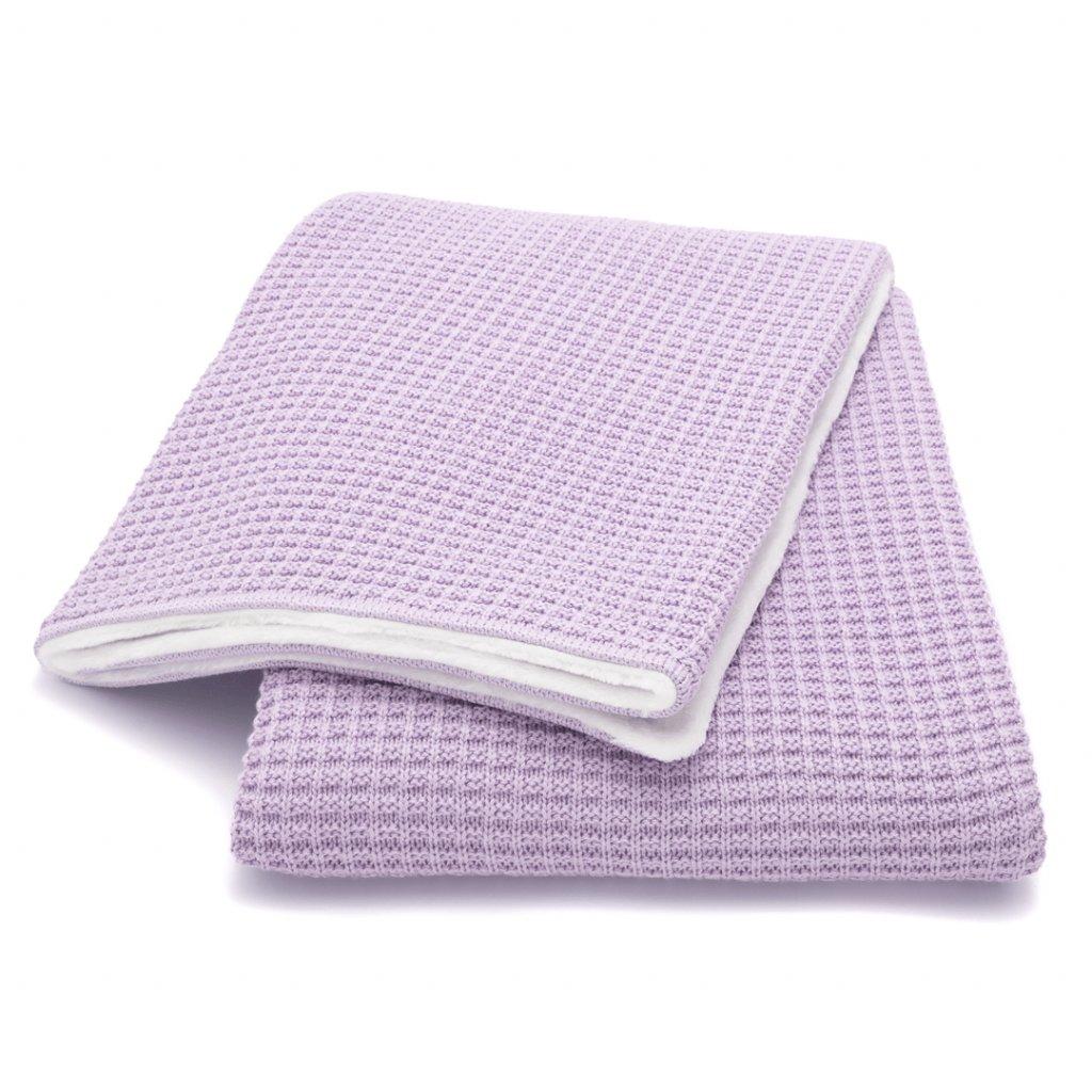 zimna detska deka fialova