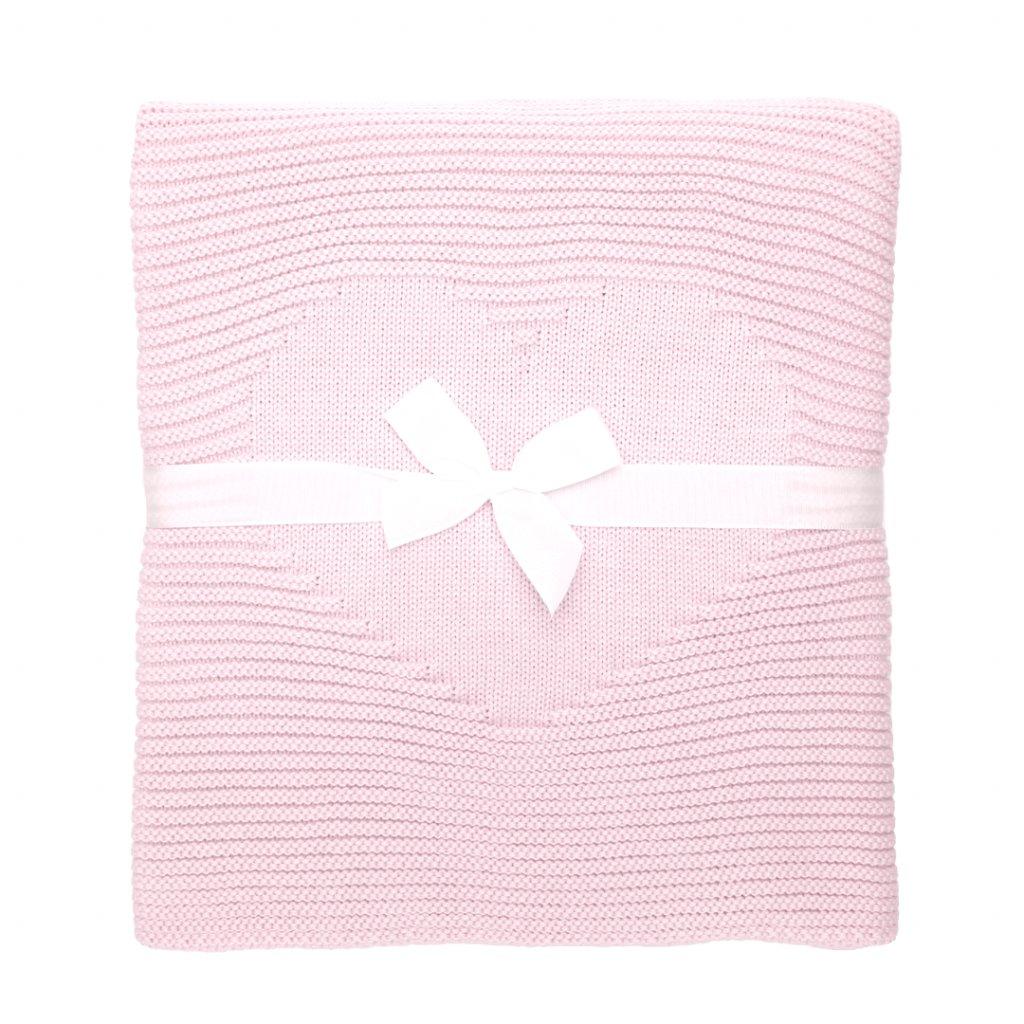 detská deka do kočíka ružová