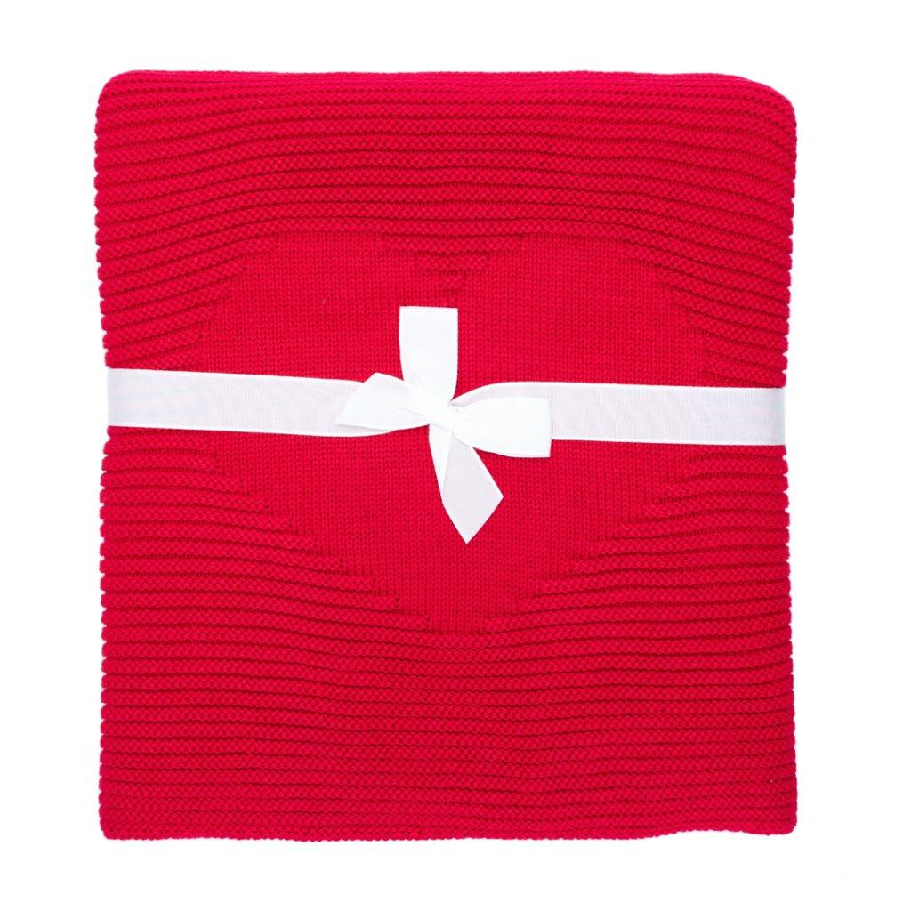 detská deka do kočíka červená