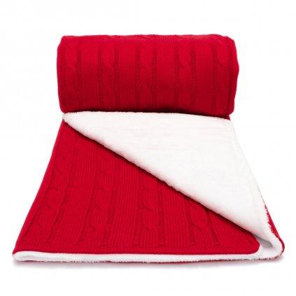 zimná detská deka cervená