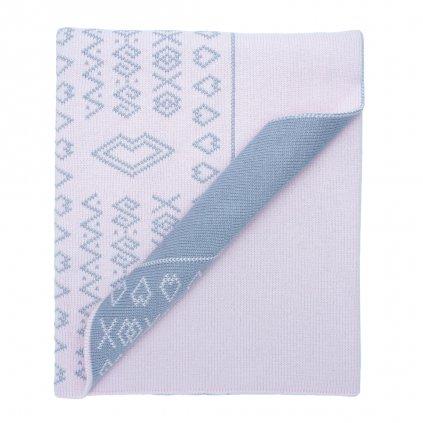 4 1 detska pletena deka ruzova