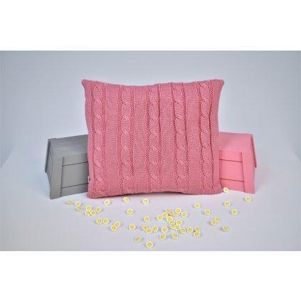 vankúšik do kočíka vintage ružový