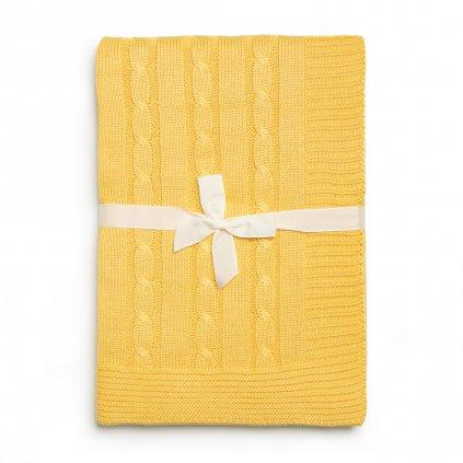 detska deka do kocika žltá