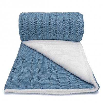 Zimná deka do kočíka modrá